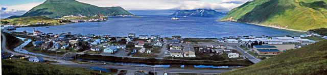 Panorama Of Dutch Harbor Alaska